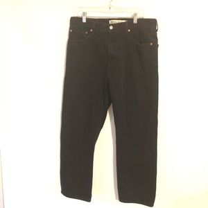 Levi's 505 Regular Fit Men's Black Jeans 36 x 30